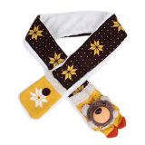 Damara Lovely Plush Bear Childrens Cold Weather Scarf With Pocket,Coffee