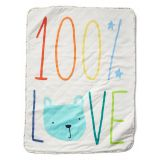 Favorite love quilted blanket